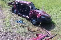 Z tragické nehody na železničním přejezdu v Letohradu.