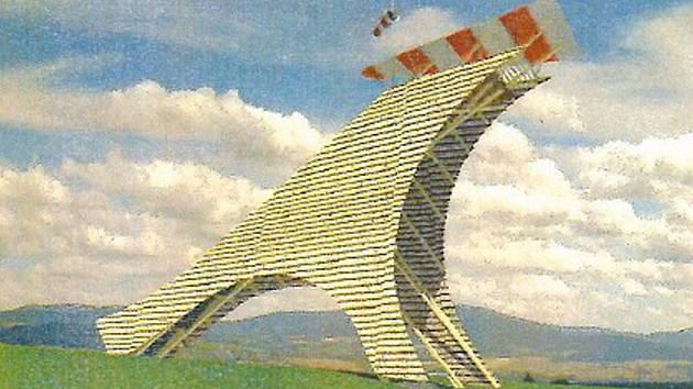 Vizualizace rozhledny navržené na návrší zvaném Zákopanka mezi obcemi Líšnice a Lukavice.