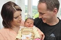 Veronika Kopecká bude doma s rodiči Terezií a Pavlem v Nemčicích. Světlo světa spatřila 7. července ve 20.13, kdy vážila 3,06 kg.
