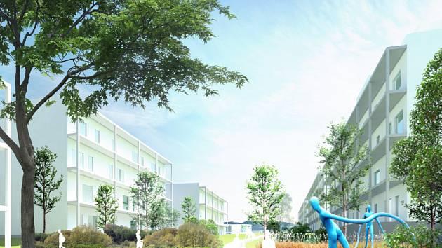 Vizualizace plánované bytové výstavby ve Vysokém Mýtě