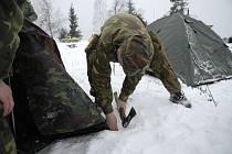 Zimní táborníci na Kozlově. Ilustrační foto.