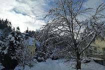I do Anenské Studánky přišla pořádná zima.