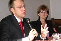 Václav Moravec na besedě.