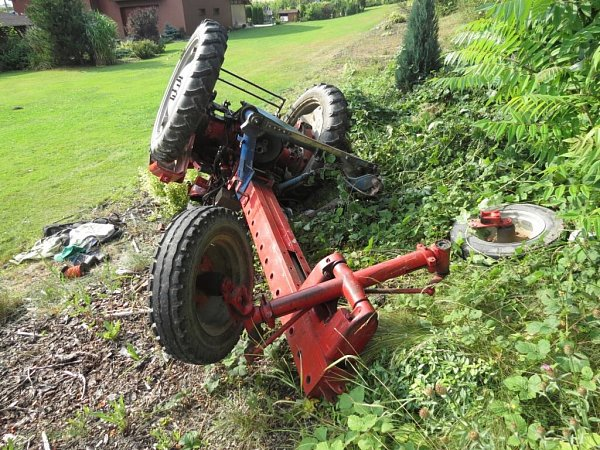 Znehody malotraktoru na Lanškrounsku.