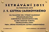 Pamětní deska, která bude odhalena v Letohradě.