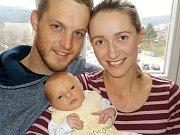 Terezie Janischová je prvorozená holčička Terezy a Filipa z Lanškrouna. Narodila se s váhou 3774 g dne 4. 1. v 8.16 hodin
