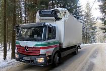 Z dopravní nehody v Lanškrouně.