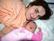 Veronika Mariková těší rodiče Moniku a Jana z Rudoltic. Narodila se 8. 12. v 8.54 s váhou 3,330 kg.