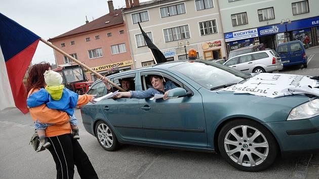 Zemědělci z Orlickoústecka podpořili demonstraci českých i evropských farmářů kvůli cenám mléka.