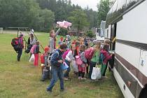 Loučení s táborem v Ráji u Kunčic.