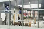 Vizualizace nové podoby ústeckého nádraží z prezentačního videa SŽDC.