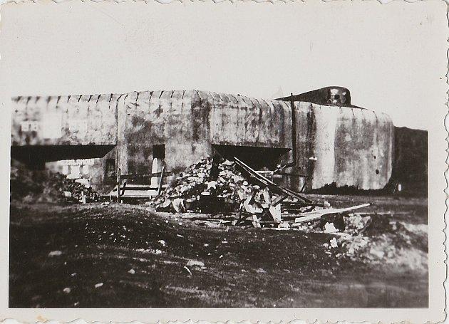 Pěchotní srub K-S38 UKřížku, kde končila strážní hlídka Ferdinanda Pazourka.