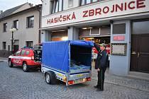 Před pátou hodinou ranní se jednotka dobrovolných hasičů z České Třebové sešla před místní zbrojnicí.