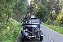 Spanilá jízda projížděla v sobotu 14. srpna Orlickými horami