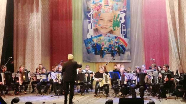 Koncert projektového orchestru v Marksu.