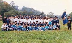 Sbor dobrovolných hasičů Černovír při příležitosti svěcení praporu v září 1998. Svěcení proběhlo v kapli sv. Gottharda. Sbírky na její obnovení se zúčastnili i černovírští hasiči.