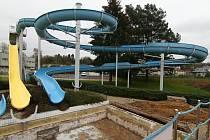 Ústecký aquapark prochází rekonstrukcí.