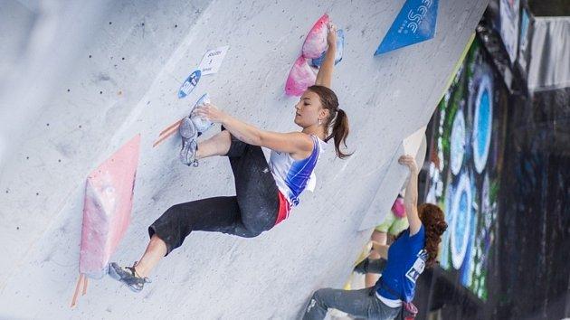 Veronika Scheuerová na závodě Evropského poháru mládeže v Rakousku.