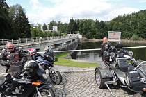 Chorvatští motorkáři v Letohradu.