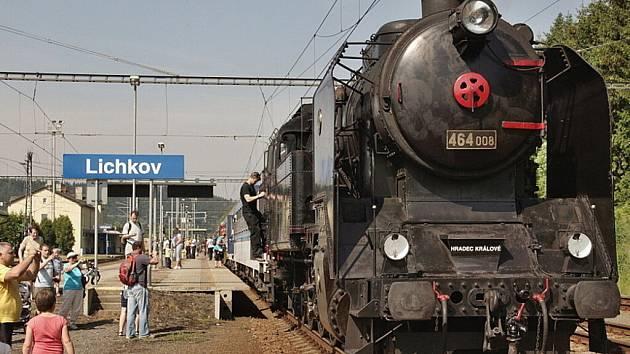 Historický vlak v Lichkově.