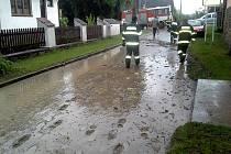 Přívalový déšť zaplavil Letohrad.