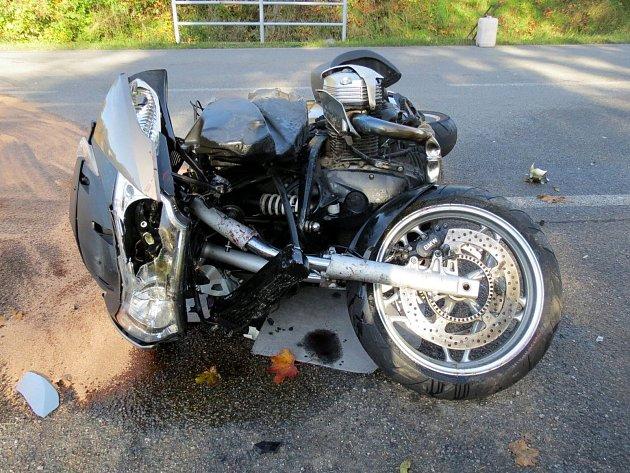 Motocykl po nehodě