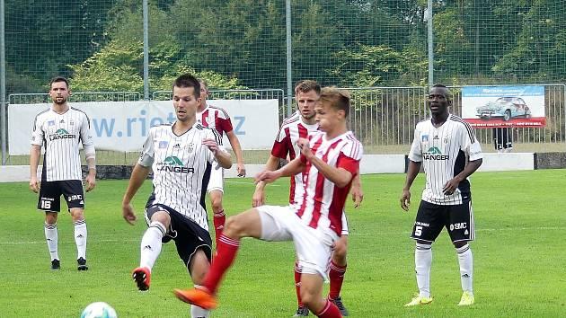 Česká fotbalová liga: TJ Jiskra Ústí nad Orlicí - SK Viktorie Jirny.
