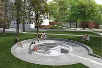Architektonická studie revitalizace parku u Roškotova divadla.