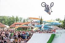 Aquapark v Žamberku přivítal jezdce BMX.