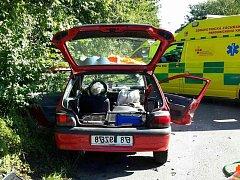 Nehoda dvou osobních automobilů v Lanšperku.