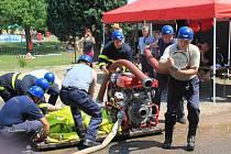 Okrsková soutěž hasičů v Chocni.