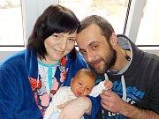 Milan Chaloupka je prvorozený syn Veroniky a Milana z Horní Čermné - Nepomuk. Na svět přišel dne 21. 12. v 1.48 hodin, kdy vážil 3670 g.