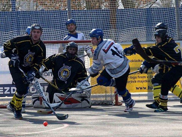 Hokejbalisté Letohradu B v zápase se Svitavami