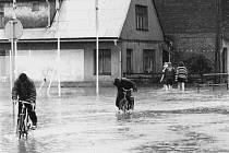Z povodní  v roce 1997 v Ústí nad Orlicí.
