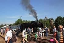 Parní vlak, který bude každou sobotu jezdit na trati Letohrad-Hanušovice.