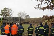 Společné cvičení příslušníků jednotky Aktivních záloh Armády ČR s jednotkami dobrovolných hasičů Lanškrouna a Dolního Třešňovce.