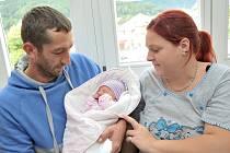 Ester Slaninová dělá radost rodičům Martině a Aloisovi z Přestavlk. Na svět si 13. 9. ve 20.04 přinesla váhu 2,78 kg.