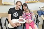 Pavlína Melšová poprvé uviděla svět 15. dubna v 1.05 hodin. Radují se z ní rodiče Monika Kovářová a Josef Melša i sestra Nikolka ze Semanína. Holčička vážila 3,250 kg.
