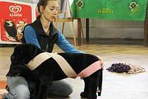 Marta Mannelová jako první přivezla do Čech tréninkovou metodu Tellington Ttouch. Foto: archiv Martiny Mannelové