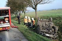 Dopravní nehoda u Zámrsku.