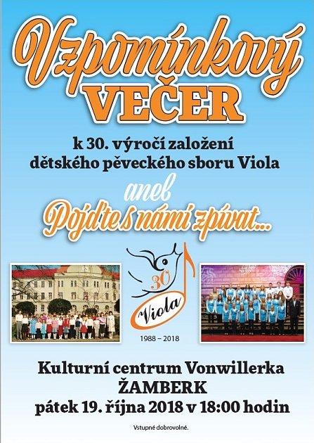 Vzpomínkový večer - 30 let Violy v Žamberku.