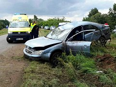 Havárie osobního automobilu v Žamberku.