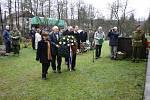 Pietní akt v Žamberku u příležitosti 66. výročí tragického konce skupiny BARIUM 15. ledna 2011.