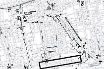 Bezručovo náměstí - mapa.