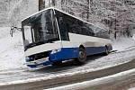 V Ústí nad Orlicí zapadl autobus, Foto: HZS PK