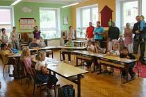 První školní den v ZŠ v Orlickém Podhůří-Říčkách.