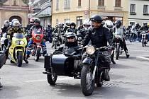 Zahajovací jarní jízda motorkářů z Letohradu.