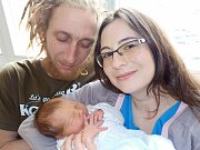 Oliver Richter jako první potomek těší od 27. 1. 12.54 hodin Elišku Stodolovou a Robina Richtera z Chocně. Při narození vážil 3440 g.