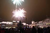 Silvestrovské oslavy v Ústí nad Orlicí.