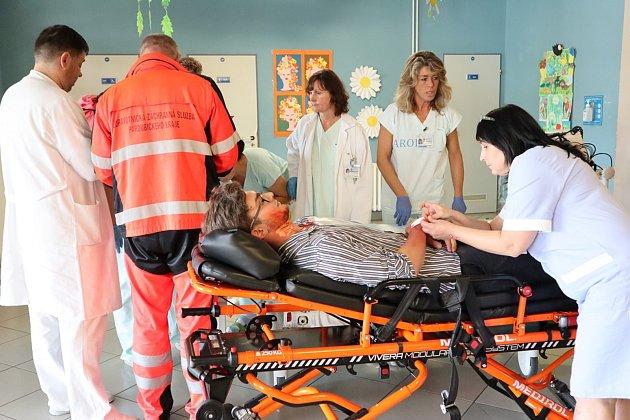 Cvičení ve Svitavské nemocnici.